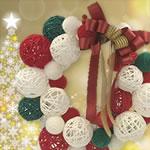 クリスマスリースを手作り!毛糸で作るボリューム感満点のリース♪