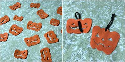 ハロウィン用飾りを手作り!フェルトで作る「ジャック・オー・ランタン」のガーランド♪①