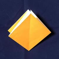折り紙で作る♪ハロウィンかぼちゃの簡単な「折り方手順」3