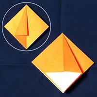 折り紙で作る♪ハロウィンかぼちゃの簡単な「折り方手順」4