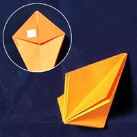 折り紙で作る♪ハロウィンかぼちゃの簡単な「折り方手順」9