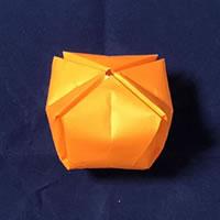 折り紙で作る♪ハロウィンかぼちゃの簡単な「折り方手順」10