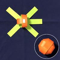 折り紙で手作り♪ハロウィン かぼちゃ飾りの「作り方手順」3