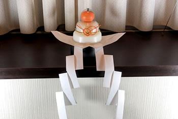 鏡餅の飾り方!自分で折れる「半紙の折り方」