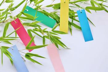七夕の短冊「色の意味は!?」願い事によって異なる5色の短冊!