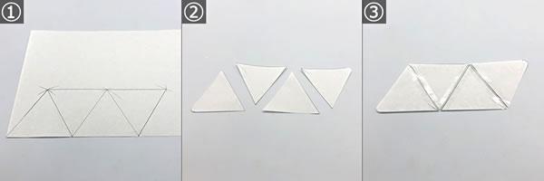 【小学生の手芸】針を使わない簡単な小銭入れの作り方「型紙を取る」手順 1~3