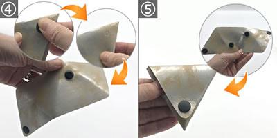 【小学生の手芸】針を使わない簡単な小銭入れの作り方「ホックの付け方」手順 4~5